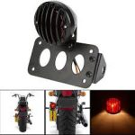 Side Mount Tail Light Brake License Plate Bracket Taillight