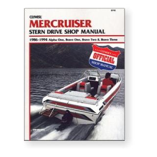 Manuel Mercruiser sterndrive alpha one, bravo 1, 2 & 3 1986-1994