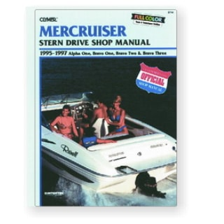 Manuel Mercruiser sterndrive alpha one, bravo 1, 2, 3, 1995-1997